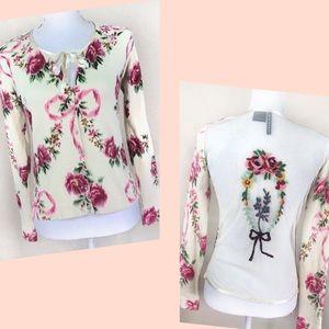 CHAROLOTTE TARANTOLA Sweater sheer back Medium